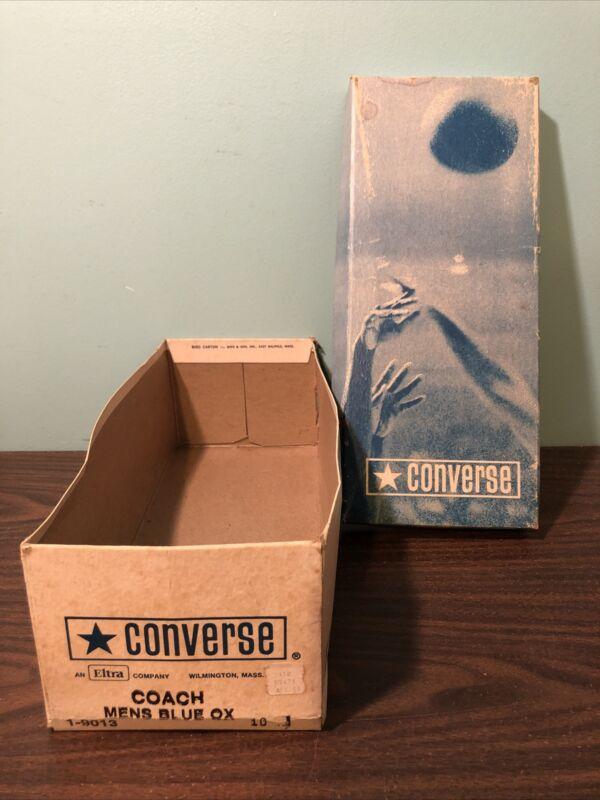 Empty Vintage Converse Shoe Box Coach Blue Ox Size 10 BOX ONLY Eltra Basketball