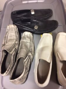 3 pair men's dress shoes