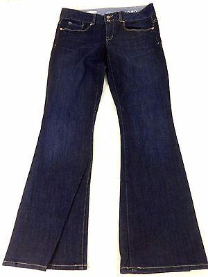 GAP 1969 WOMENS DARK WASH BLUE DENIM PERFECT BOOTCUT JEANS SIZE 27/4 LKNW