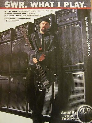 Godsmack, Robbie Merrill, SWR Amplifiers, Full Page Promotional Ad