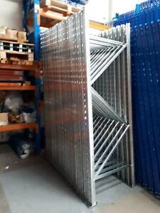 ** New Pre Gal Zinc 2438 mm x 838 mm Pallet Racking Frames 8.5 Ton