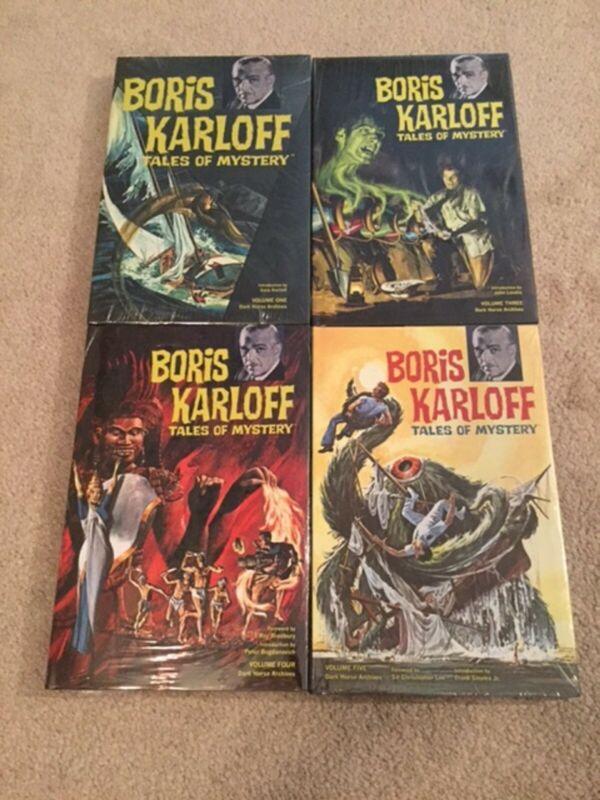 Boris Karloff Tales of Mystery Vols 1 3 4 5 HC Books Dark Horse Archives -Sealed