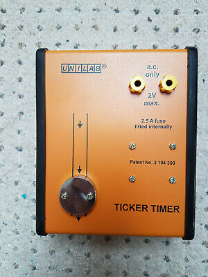 UNILAB TICKER TIMER Event Marker 2 Volt AC Max BOXED & Instructions
