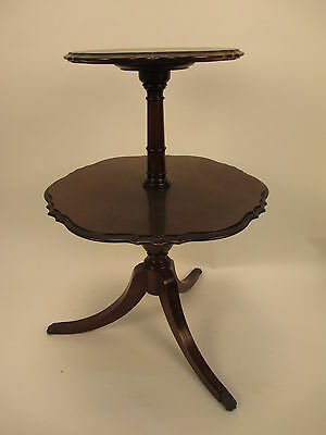 Vintage Imperial Grand Rapids 2 Tier Dumbwaiter Butler Table 4116