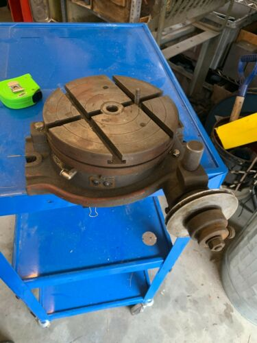 """ASH Japan 8"""" Rotary Table w/3 T Slots, Center MT, Belt Drive Option - Smooth"""