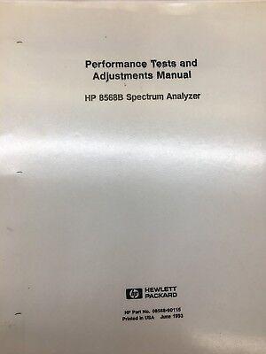 Hp 8568b Spectrum Analyzer Performance Tests Adjustments Manual 08568-90115