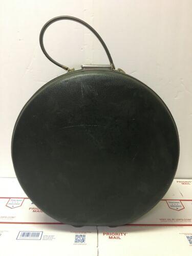 Vintage Dark Gray American Tourister Tri-Taper Round Hat Box Hard Travel Case