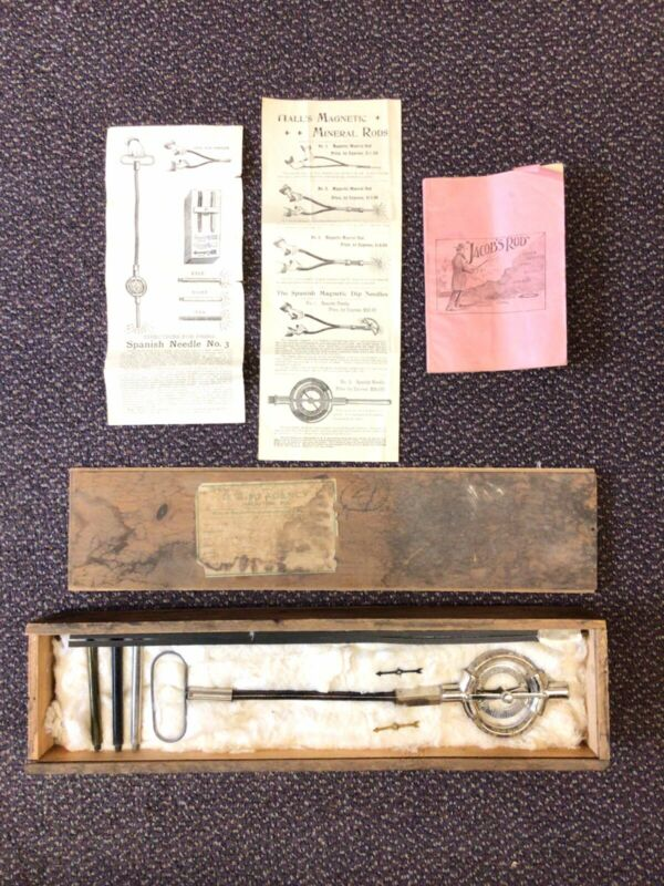 Hall's Magnetic Mineral Rod Complete Book Broadside Instructions All Parts