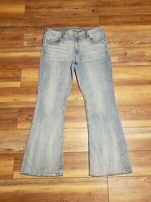American Eagle Womens Super Stretch Artist Flare Denim Jeans Size 18 Waist 36