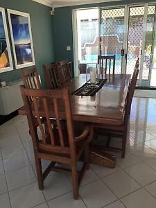 Teak Dining Chair set 8 - 2 carvers, 6 chairs in excellent condui Clontarf Manly Area Preview