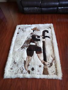 Llama wool rug/wall hang Hillside Melton Area Preview