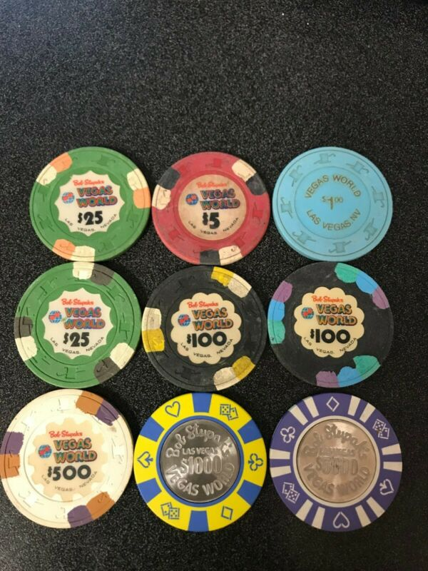 Bob Stupak Vegas World - Complete Set of Casino Chips Las Vegas Nevada