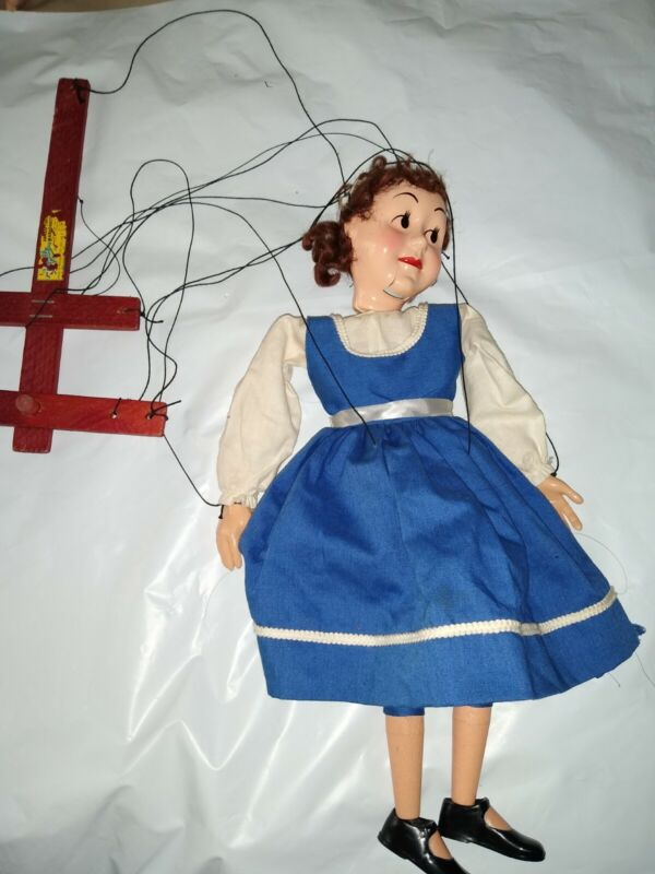 "RARE! VTG Hazelles ""TALKING"" Puppet Airplane Control Marionette Doll #311 DOTTY"