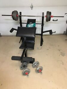 Bench press York et 160 lbs