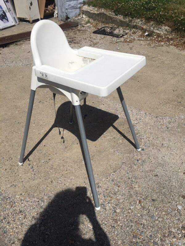 IKEA ANTILOP Highchair with Tray Safety Belt white silver color