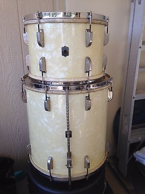 1940'S LEEDY 9X13 & 16X16 WMP TOM DRUMS, CALF HEADS.  NICE ONES !