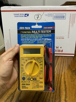 Cen-tech 7 Function Digital Multimeter - Multi-tester
