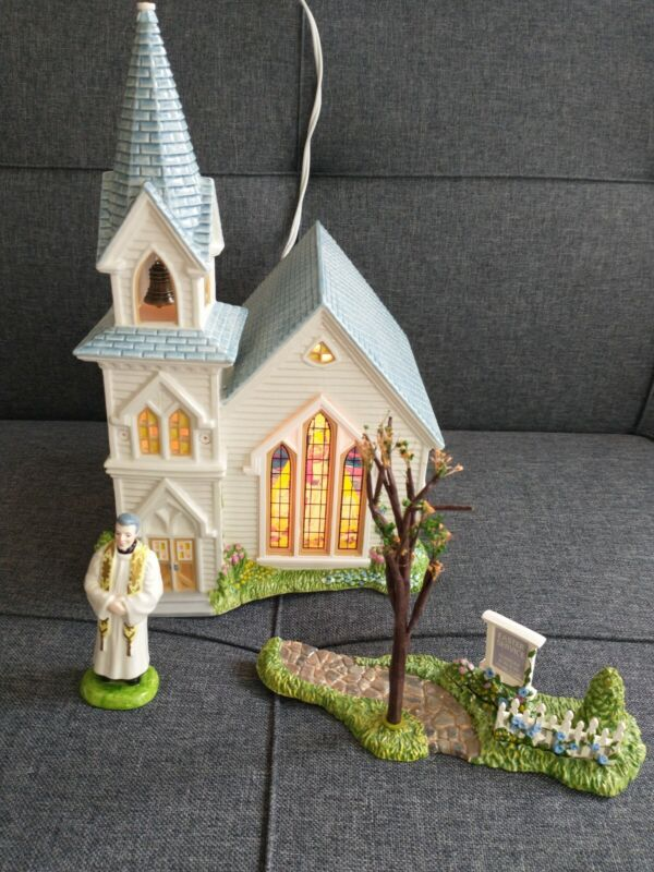 Dept 56 Snow Village Easter Happy Easter Church