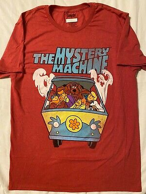 SCOOBY-DOO movie Shaggy MYSTERY MACHINE ghost Vintage Retro MEN'S New T-Shirt