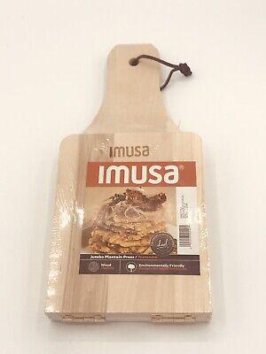 "IMUSA USA J-100-5-5045 Traditional Jumbo Wood ""Tostonera"" Plantain Masher"
