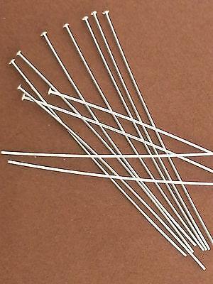 """100-Sterling Silver.925 Head Pins.2"""" 24 gauge.Domed Heads.DIY Earrings.Wholesale"""