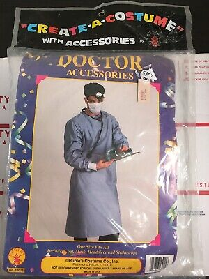 Create Halloween Costume (New Mens Doctor Accessories Rubie's Halloween Create A Costume Made In USA)