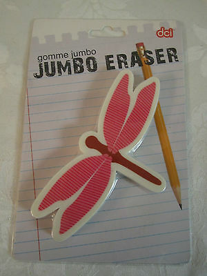 Dragonfly Jumbo Eraser Paperweight Pink Wings