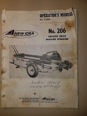 New Idea Manure Spreader No 206