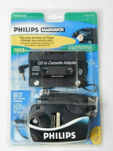 Philips Magnavox CD to Cassette Adaper Kit with DC Power Adapter PM62051