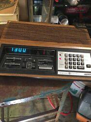 Vtg GE 7-4885B Program Alarm Clock Radio Early Digital Tuner Unique Works Cool