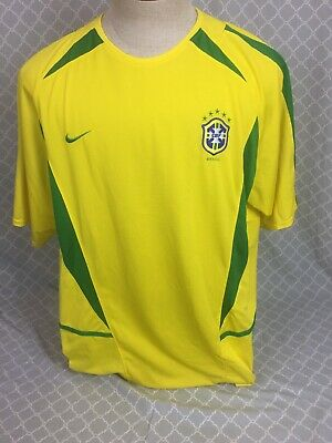 ed56795d52f Ronaldo Official Nike Brazil Brasil Soccer Football Jersey Yellow  9 Extra  Large