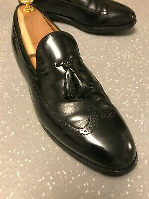 Men's Johnston & Murphy USA Black Leather Tassel Loafers UK 8.5 EU 4.5 US 9.5