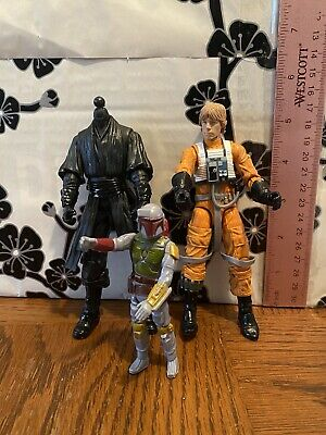 Star Wars Black Series Luke Skywalker VINTAGE BOBA FETT!! Kenner Hasbro! Look!!