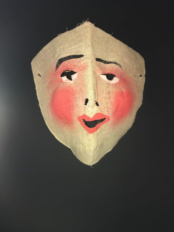 c.1920s Vintage/Antique Halloween Mask In Gauze