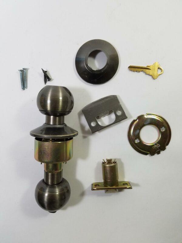 US Lock US2020 Lockset Key-in-Knob/Privacy Grade 3 Antique Brass Schlage 2 Keys
