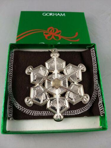1987 Gorham Sterling Christmas Snowflake Ornament New, Unused, w/box & bag