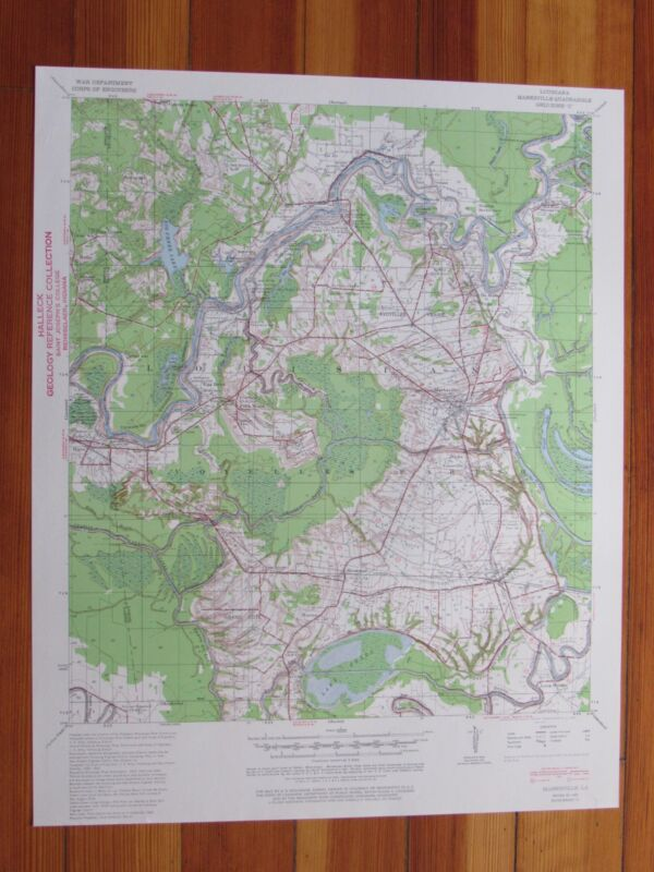 Marksville Louisiana 1960 Original Vintage USGS Topo Map