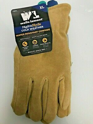 Wells Lamont Leather Cold Weather Water Resistant Gloves Thinsulate Sizel-xl 4a