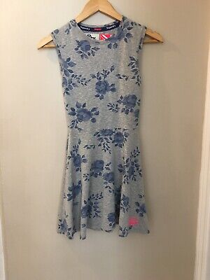 Ladies Superdry Happy Floral Dress, Size XS, Good Condition