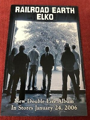 RARE Railroad Earth Mini-Poster Elko 2006 Todd Sheaffer Tim Carbone Hobos