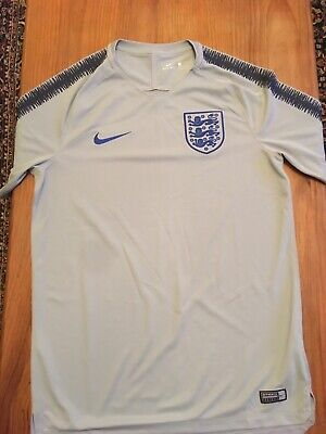 Men's Nike England Training Shirt, Current Kit, Used Size M
