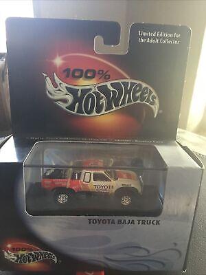 Hot Wheels 100% Black Box Toyota Baja race Truck Ivan ironman Stewart red/white