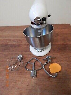 KITCHEN AID Ultra Power 300 Stand Mixer KSM95WH W/ Bowl & Attachments/10 Speeds