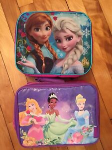 2 like new lunch bags boxes
