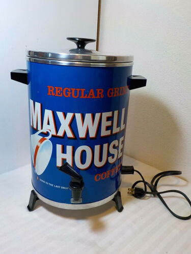 VINTAGE MAXWELL HOUSE COFFEE MAKER WEST BEND 30 CUP PERCOLATOR 1973