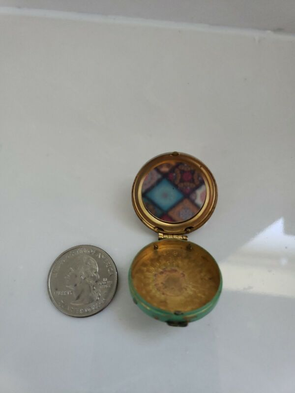 Vintage Pill Box with Mirror