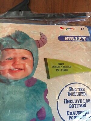 Sulley Pixar Costume Disney Monsters Inc Boys Girls Halloween 12-18 Months