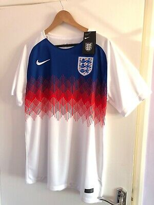 England Men's Nike Training Top Large L 2018/ 2019 Retro Football World Cup