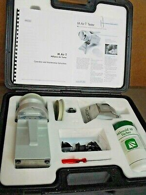 Millipore M Air T Environmental Air Sampling Monitoring Tester Kit Wcase Manual