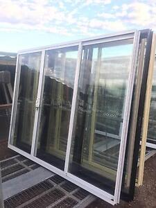 NEW Aluminium SLIDING DOORS 2100h x 2700w (approx size) 5 COLOURS Campbellfield Hume Area Preview
